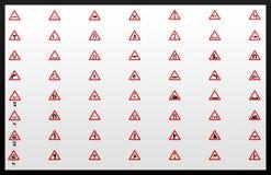 Colagem dos sinais de tráfego Imagem de Stock