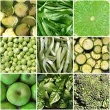 Colagem dos vegetais Fotografia de Stock