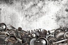 Colagem feita do auto carro velho das peças sobresselentes Fotografia de Stock