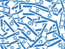 Colagem israelita da bandeira ilustração royalty free
