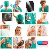 Colagem médica Fotos de Stock Royalty Free