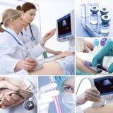Colagem médica Imagens de Stock