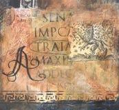Colagem mergulhada Textured dos media misturados fotografia de stock royalty free