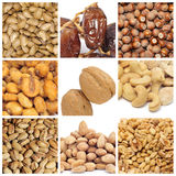 Colagem Nuts Fotografia de Stock Royalty Free