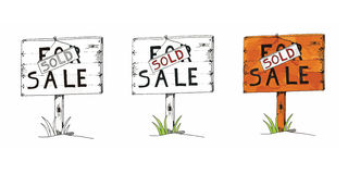Colagem para a venda Fotografia de Stock