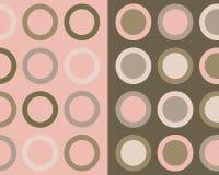 Colagem retro dos círculos Foto de Stock Royalty Free
