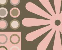 Colagem retro dos círculos Foto de Stock