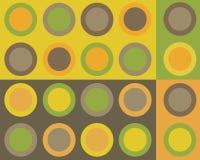 Colagem retro dos círculos Fotografia de Stock