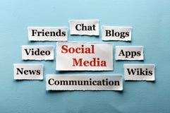 Colagem social dos meios Imagens de Stock Royalty Free