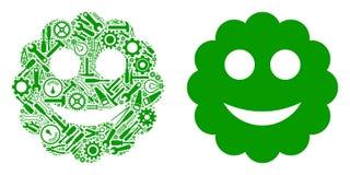 Colagem sorrida da etiqueta de ferramentas do reparo ilustração royalty free