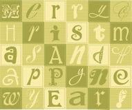Colagem tipográfica do Natal Imagem de Stock