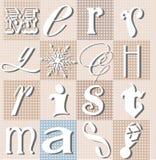 Colagem tipográfica do Natal Foto de Stock
