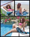 Colagem tropical das férias fotos de stock