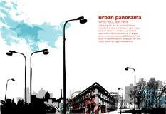 Colagem urbana ilustração royalty free