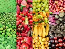 Colagem vegetal orgânica fotografia de stock