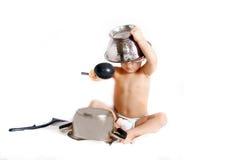 colander варя малыша шлема Стоковые Изображения RF