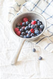 Colander with fresh berries Stock Images