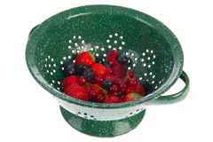 Colander with fresh fruit Stock Photography