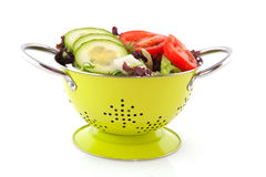 Colander with fresh salad Royalty Free Stock Photo