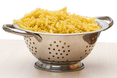 Colander with pasta Royalty Free Stock Photos