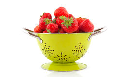 Colander with strawberries Royalty Free Stock Photo