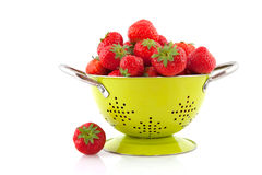 Colander with strawberries Royalty Free Stock Images