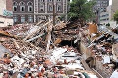 Colapso da construção de Philadelphfia Fotografia de Stock Royalty Free