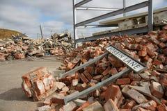 Colapso de construção Fotos de Stock