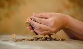 Colapso do mercado de moeda, os riscos de investimento Imagens de Stock Royalty Free