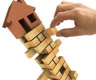 Colapso do mercado imobiliário ilustração royalty free