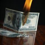 Colapso financiero Imagen de archivo libre de regalías