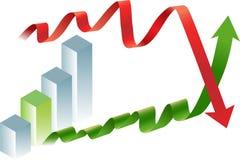 Colapso financiero y rebote stock de ilustración