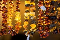 Colar ambarina Imagens de Stock