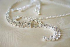 Colar com diamantes Foto de Stock