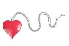 Colar com o pendente do coração do amor Imagens de Stock Royalty Free