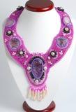 Colar cor-de-rosa Imagens de Stock