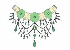 Colar das esmeraldas Foto de Stock Royalty Free