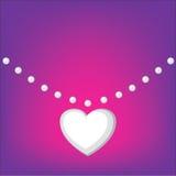 Colar do coração Fotos de Stock Royalty Free