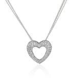 Colar do coração do diamante. foto de stock royalty free