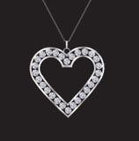 Colar do coração do diamante Imagens de Stock Royalty Free