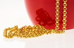 Colar do ouro Imagem de Stock Royalty Free