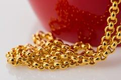 Colar do ouro Fotografia de Stock