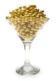 Colar do ouro no vidro Imagens de Stock Royalty Free