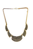 Colar original bonita do ouro para mulheres Imagem de Stock Royalty Free