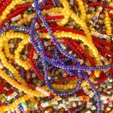 Colares africanas da pérola Fotos de Stock Royalty Free