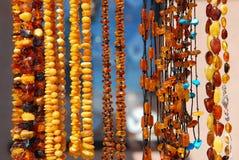Colares ambarinas bonitas Imagem de Stock