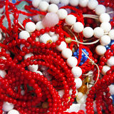 Colares corais Foto de Stock