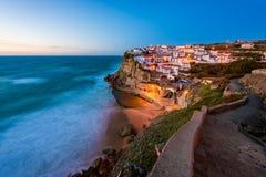 Colares Portugal på solnedgången Arkivbilder