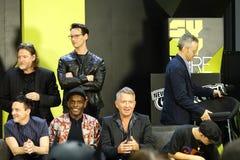 Colata comica di raggiro 2018 di New York di Gotham Panel 38 fotografia stock