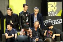 Colata comica di raggiro 2018 di New York di Gotham Panel 17 immagini stock